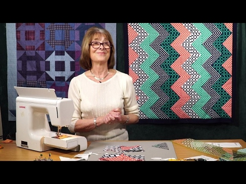 Tesselated Zig-Zag quilt with Valerie Nesbitt (taster video)