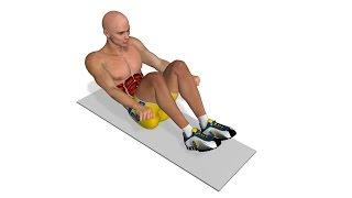 Bauch Training: Crunch mit Knien zur Brust