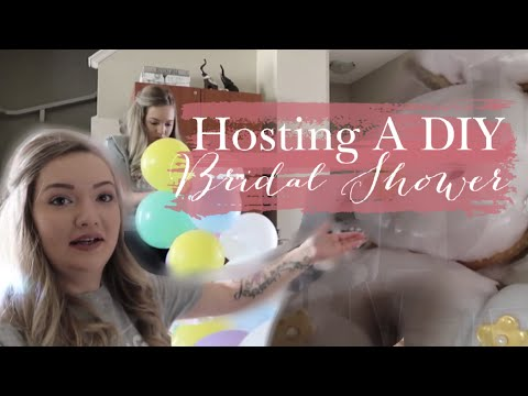 Hosting a DIY Bridal Shower Vlog | Food, Decor and planning ideas!