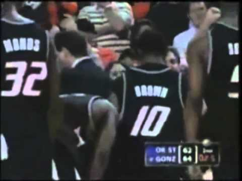 Gus Johnson screaming and Bill Raftery describes a clutch shot by Adam Morrison