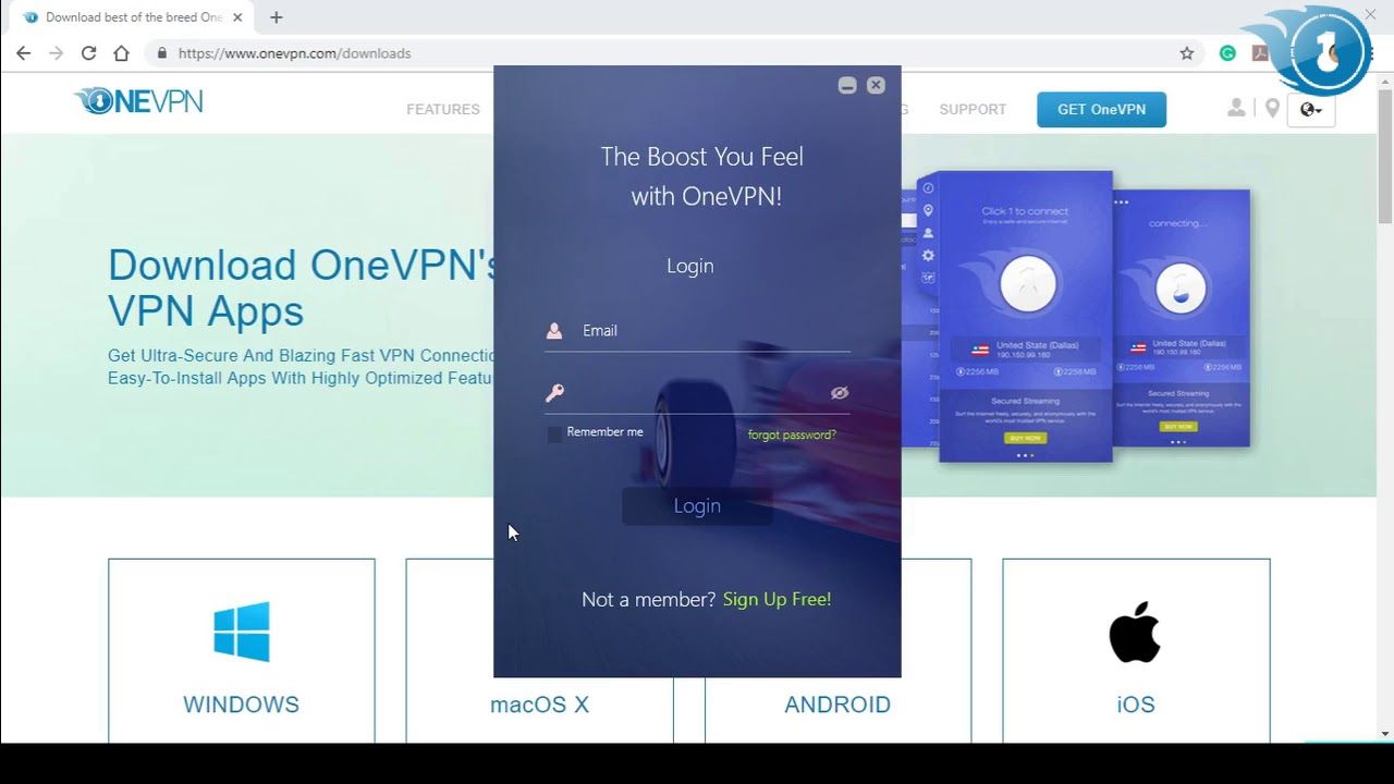 Free VPN Trial for Windows OneVPN