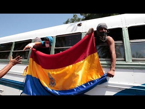 Estudantes libertados na Nicarágua