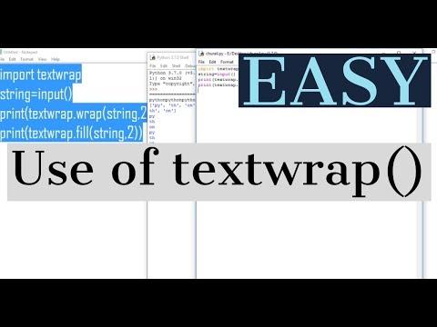 Use of textwrap() in python || python tutorial #13 thumbnail