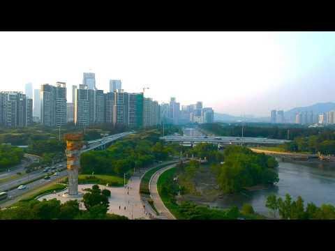 DJI Spark Landscape Shots and QuickShots | Shenzhen Bay Park