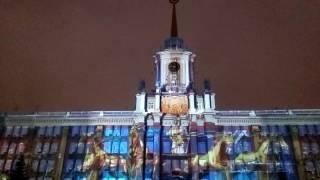 Лазерное шоу, Екатеринбург. Новый 2017 год.