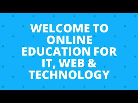 Online Education for IT, Web & Hardware Technology