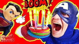 День рождения КАПИТАНА АМЕРИКИ! Праздник для супергероев!