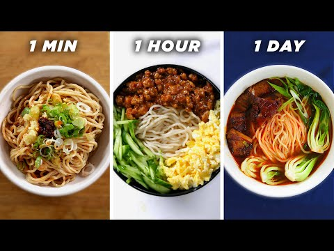 1 Minute Vs. 1 Hour Vs. 1 Day Noodles • Tasty Lunch Videos