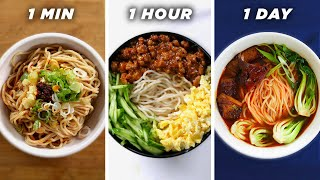 1 Minute Vs. 1 Hour Vs. 1 Day Noodles  Tasty