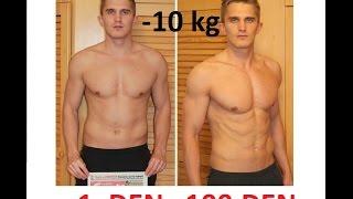 Motivační video - přeměna těla za 100 dní -10 kg (ztráta tuku a větší svalový objem)