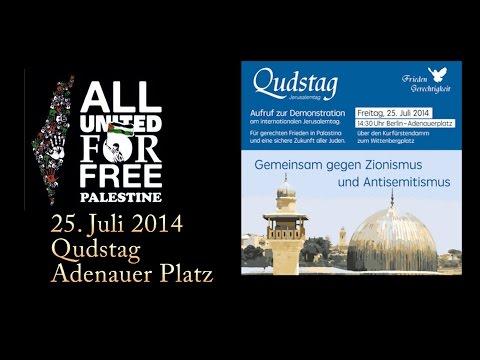 Demo in Berlin - 25. Juli 2014 - Qudstag - Free Palestine - Adenauer Platz