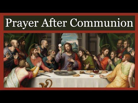 Great Prayer After Communion - Anima Christi