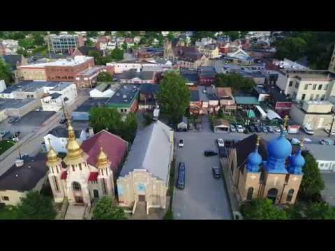 Carnegie PA Aerial Video: Pittsburgh's fun town!