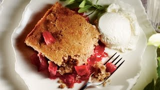 Baked Apple Rhubarb Cobbler | Milk Calendar 2013 Recipe