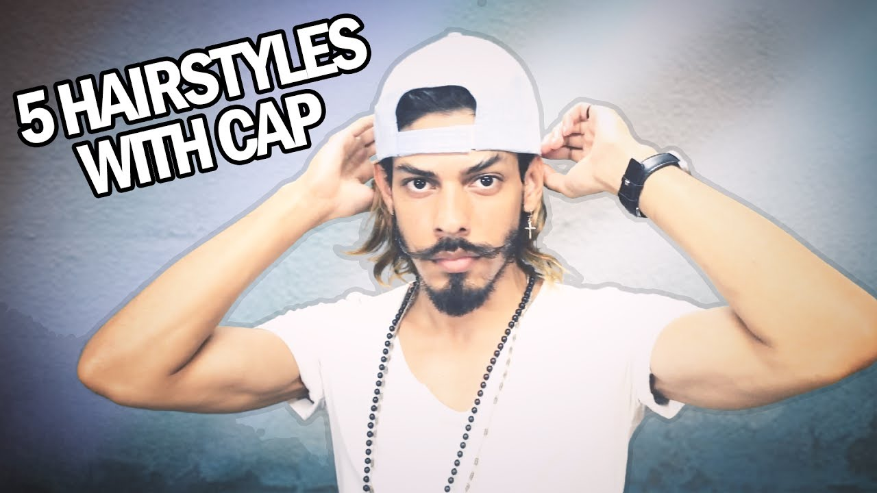5 Hairstyles With Cap   How To Wear a Cap With Long Hair - YouTube cb998bae025