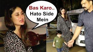 Kareena Kapoor Gets Angry On Media For Mobbing Her Son Taimur Ali Khan