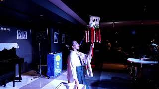 Traditional Japanese performer Michiyo Kagami Maho Takahashi at the Trapdoor Variety Show(Oct 2018)