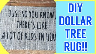 DIY Dollar Tree Welcome Mat || Freezer Paper Flex Seal Method