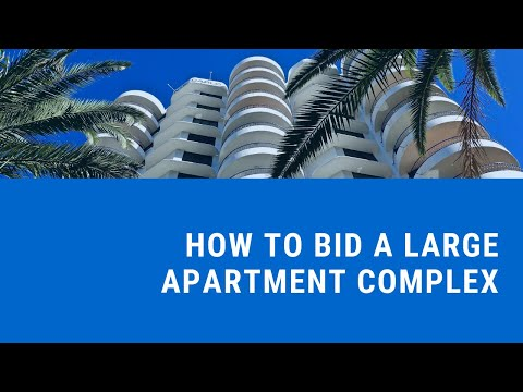 How do I bid lawn care at a large apartment complex?