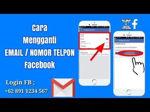 Cara Mengganti Email Atau  nomor Telpon Facebook