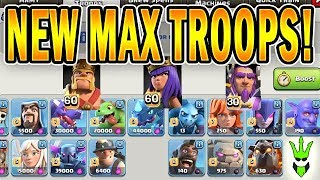 NEW LEVEL 60 HEROES AND MAX TROOP LEVELS! - TH12 NEW OFFENSE LEVELS! - Clash of Clans