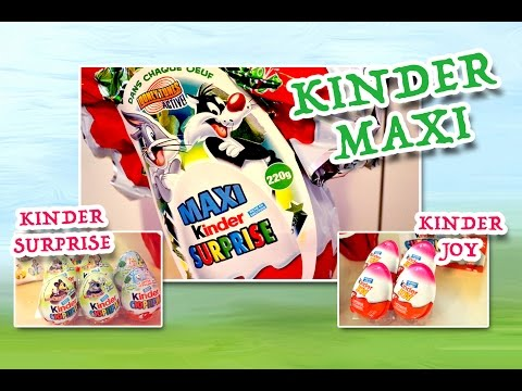 Видео: Киндер Сюрприз Макси Луни Тюнз Маша и Медведь Kinder MAXI Looney Tunes 220g Masha and Bear