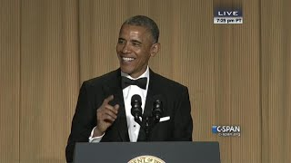 From C-SPAN coverage, President Obama remarks at the 2014 White House Correspondents' Dinner. Watch the complete video here: http://cs.pn/1JFZuMo.