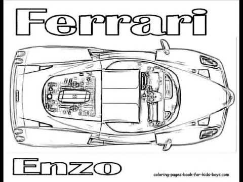 ColoringBuddyMike Ferrari Car Coloring Pages