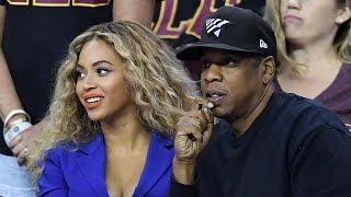 Jay-Z & Beyonce At Game 6 Of NBA Finals, Creepy Fan Pulls Beyonce's Hair