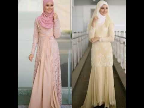 Desain Gaun Pernikahan Muslimah Elegan Sederhana Youtube