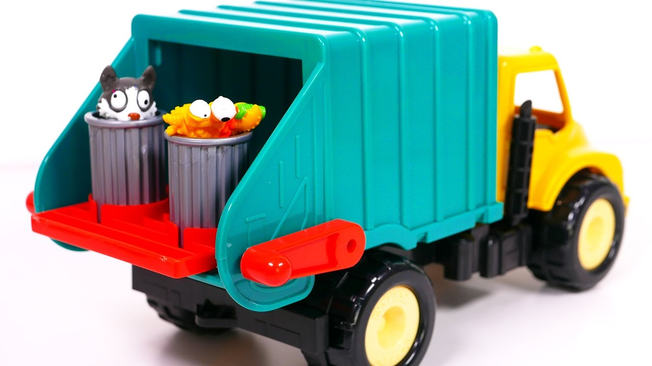 garbage truck playset for kids toy vehicles for boys youtube. Black Bedroom Furniture Sets. Home Design Ideas