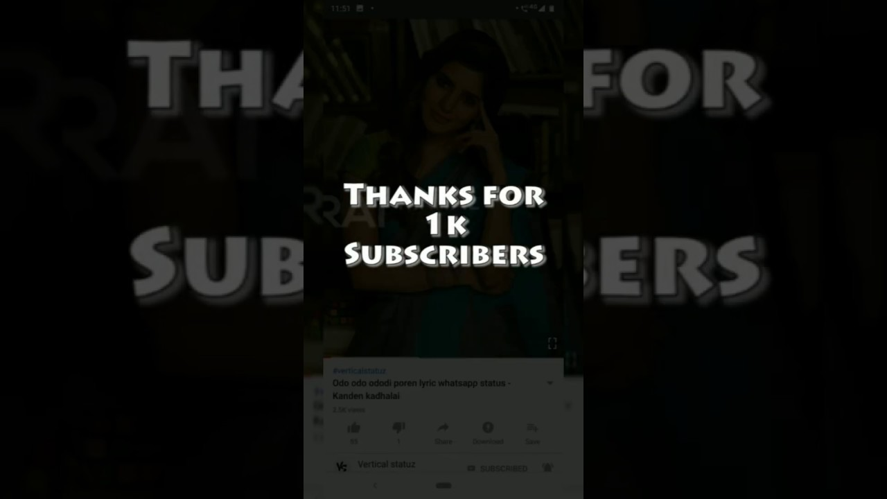 Download Thank you 1k subscribers - Vertical statuz