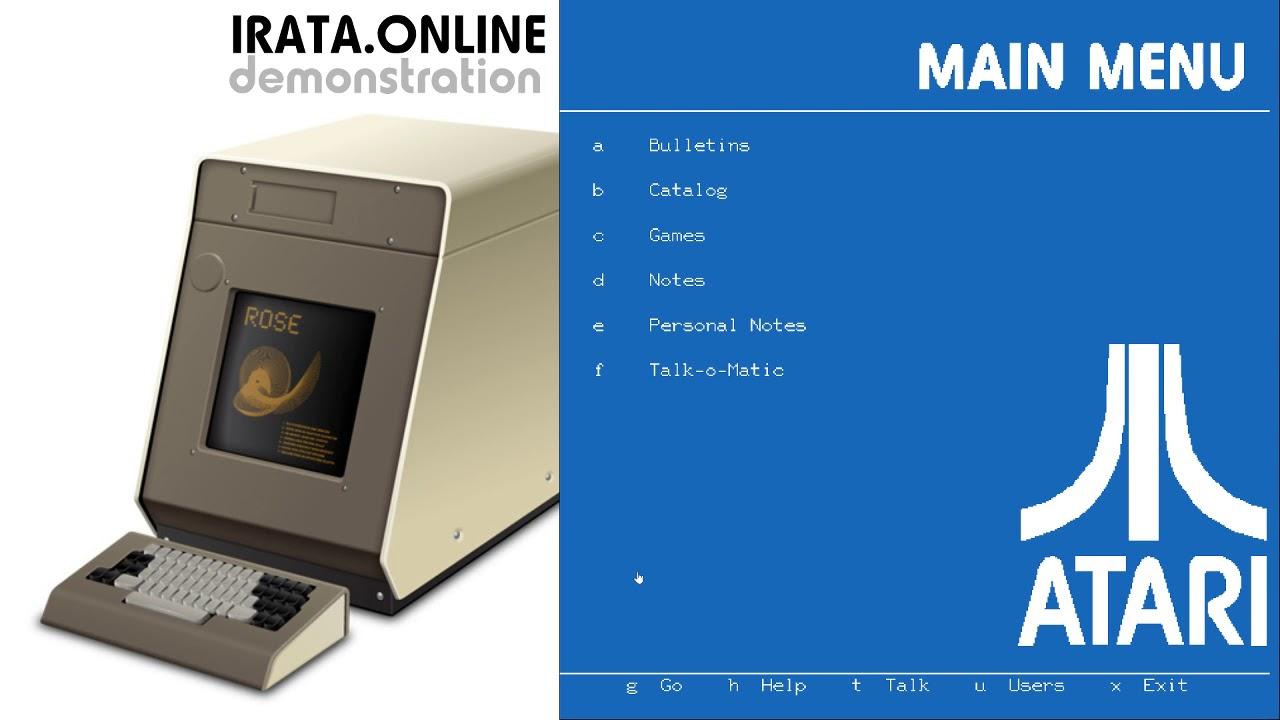 Welcome to IRATA ONLINE - a PLATO Service for Retro Computing