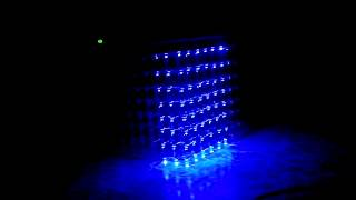 видео светодиодный куб 8х8х8 своими руками