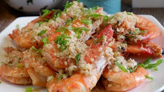 10 Min Meal: Super Easy Garlic Butter Shrimp  Delicious Prawn Recipe You can Make In 10 Minutes