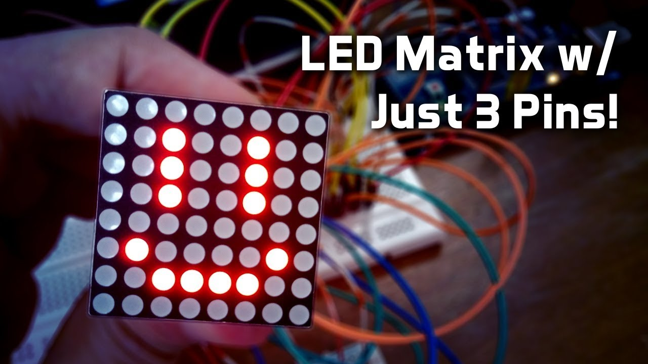 Run An 8x8 Led Matrix Using 3 Pins Youtube Rgb Wiring