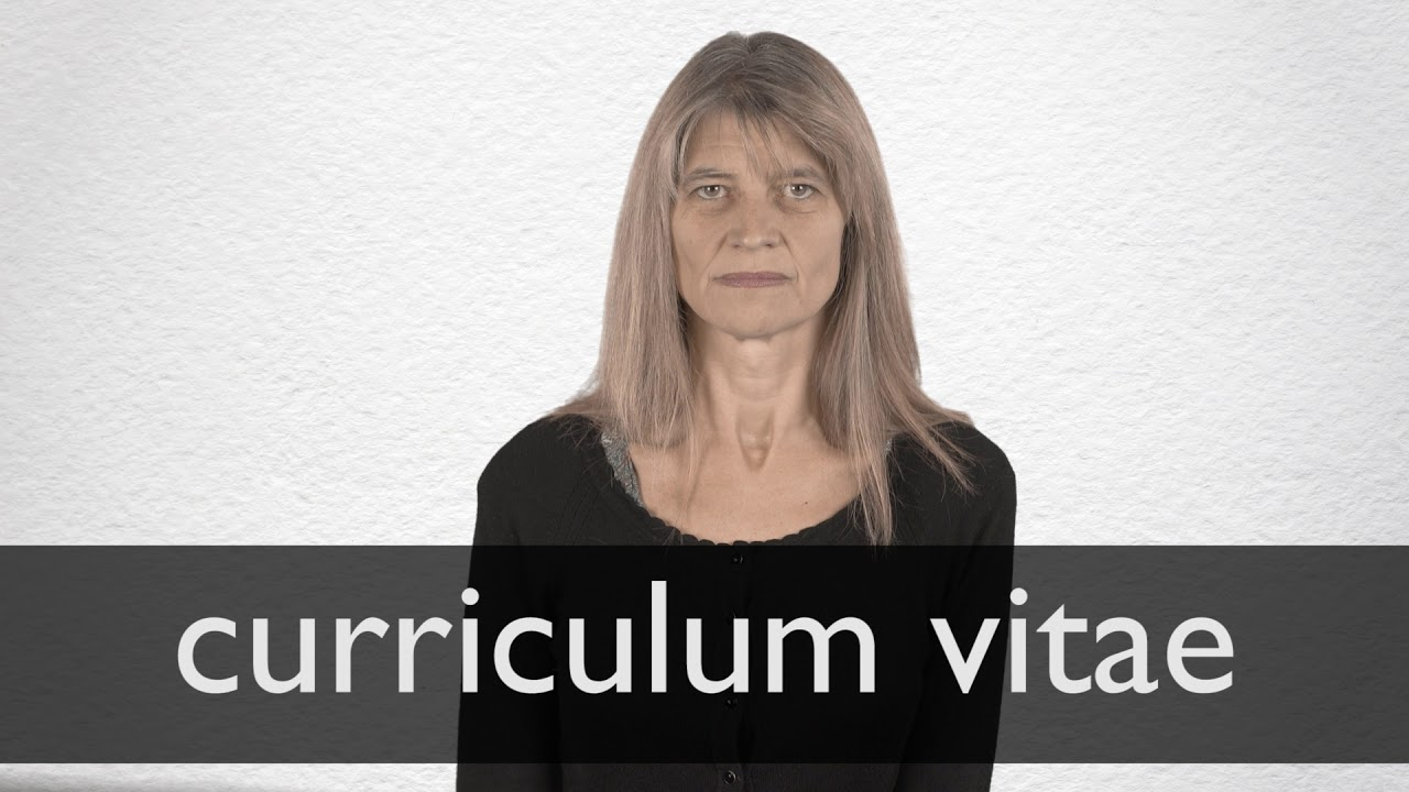 How To Pronounce Curriculum Vitae In British English Youtube