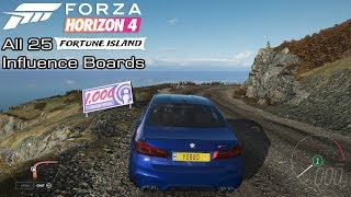 Forza Horizon 4 - All 25 Influence Boards from Fortune Island
