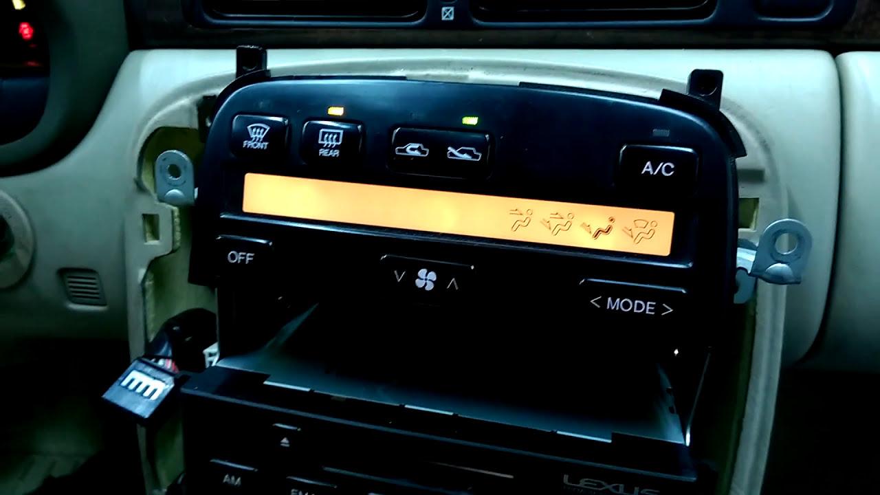 LEXUS LS400 SC300 SC400 CLIMATE CONTROL REPAIR SERVICE NEW LCD /& BULBS