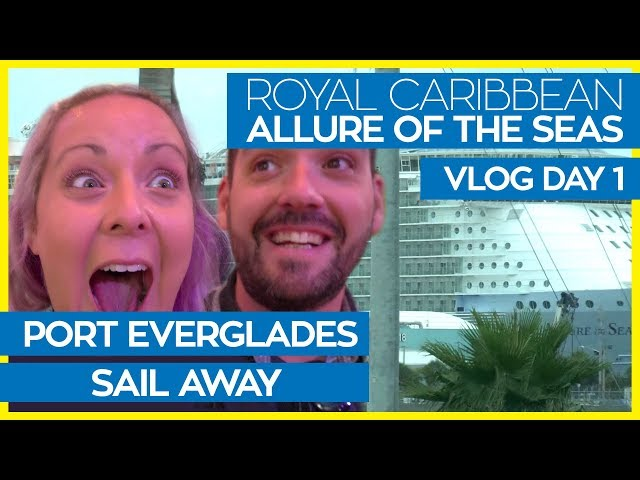 Allure of the Seas | Boarding, Cabin Tour & Sail Away | Royal Caribbean Cruise Line Vlog Day 01