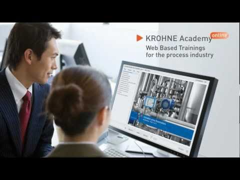 KROHNE Academy online – Web Based Training for the process industry