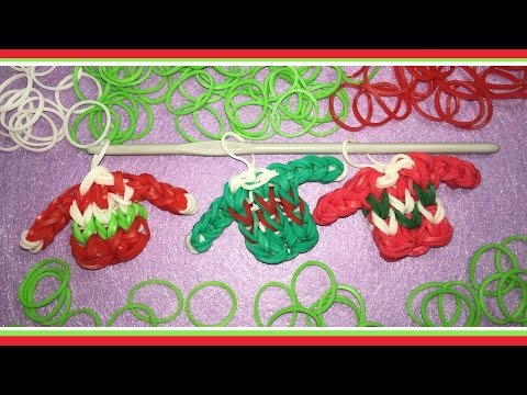 Rainbow Loom Charm For Christmas