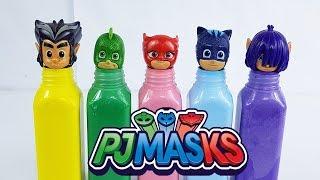 PijaMaskeliler ile Eğlenceli Boyama Oyunu Pija Maskeliler El Boyama Oyunları
