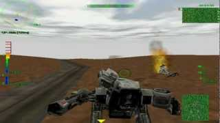 MechWarrior 3 Gameplay (Old PC game) - TVGT