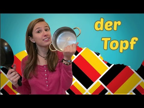 Learn 5 new GERMAN Words per DAY - IN THE KITCHEN