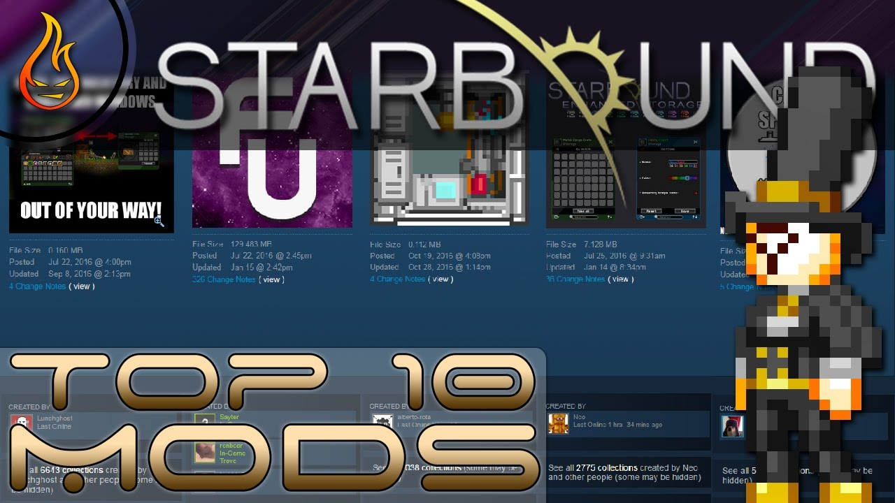 Top Ten Starbound Mods