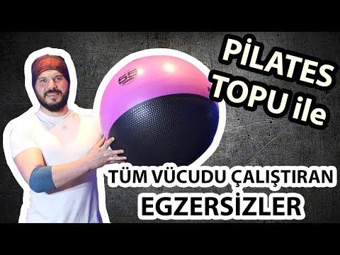 Pilates Topu ile Tüm Vücudu Çalıştıran Egzersizler