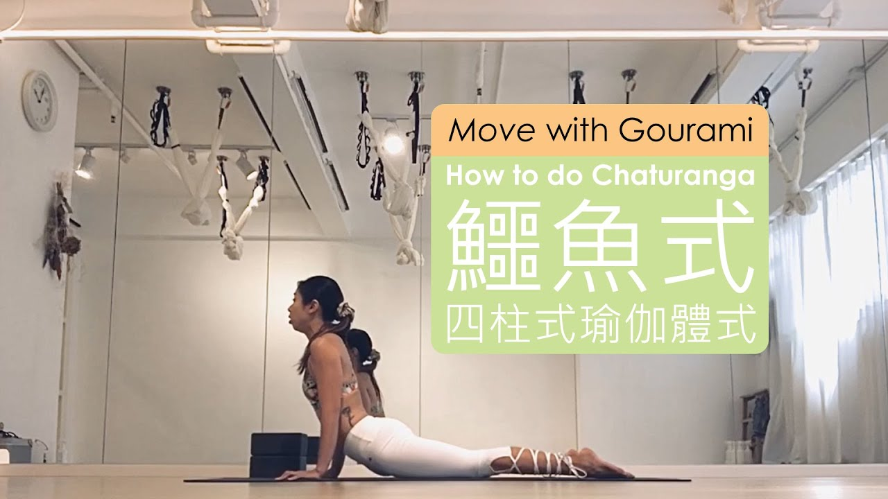 How to do Chaturanga – Four Limbed Staff Yoga Pose / 如何練習鱷魚式 - 四柱式瑜伽體式