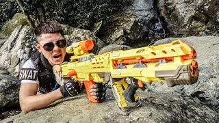 LTT Game Nerf War : Special Police Warriors SEAL X Nerf Guns Fight Black Man The Escaped Prisoner