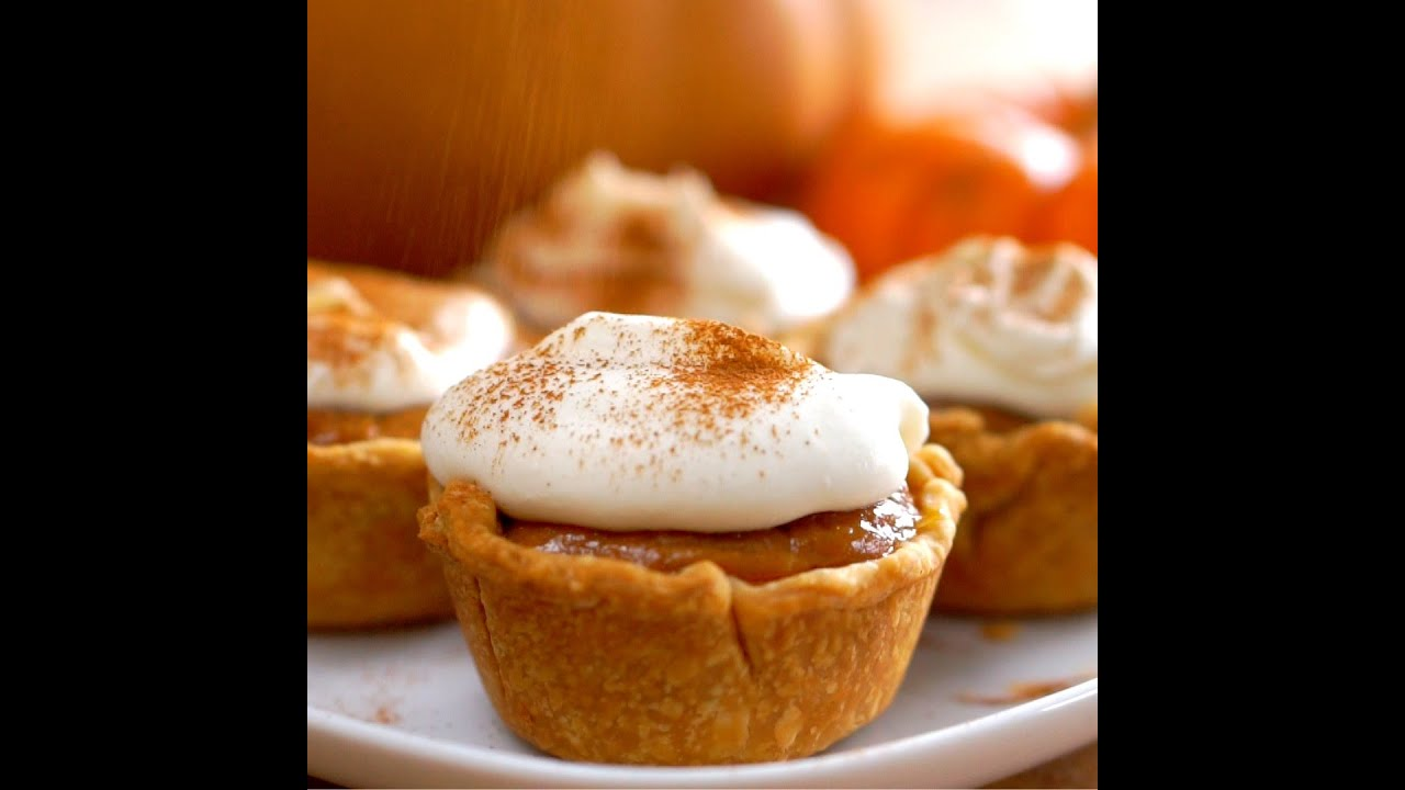 Mini Pumpkin Pies - YouTube